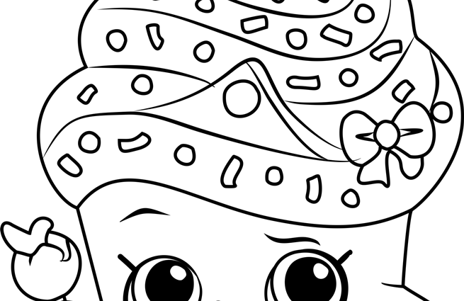 655x425 Shopkins Coloring Pages Free Printable Cupcake Queen Shopkins