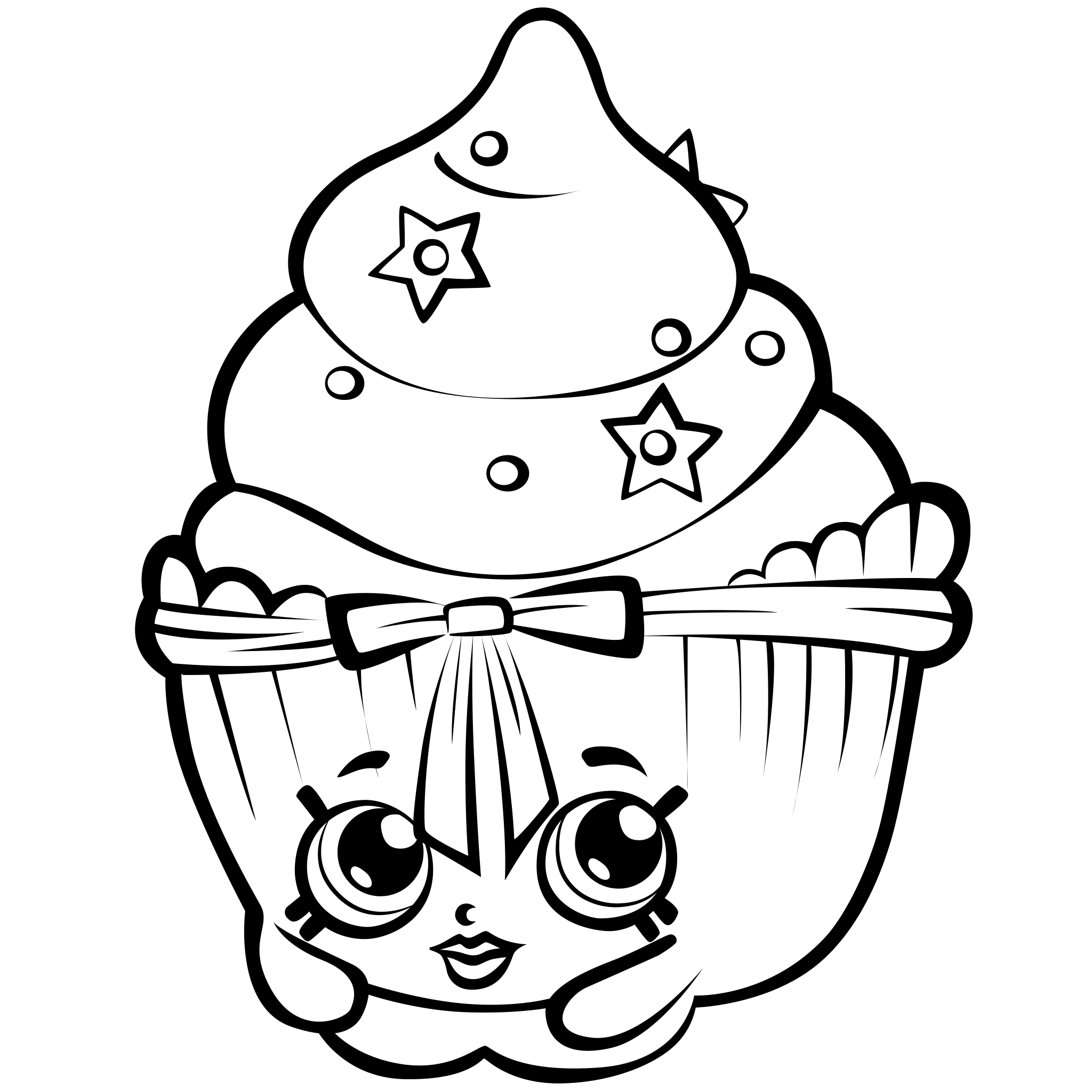 2048x2048 Cool Design Shopkins Coloring Pages To Print Season Cupcake