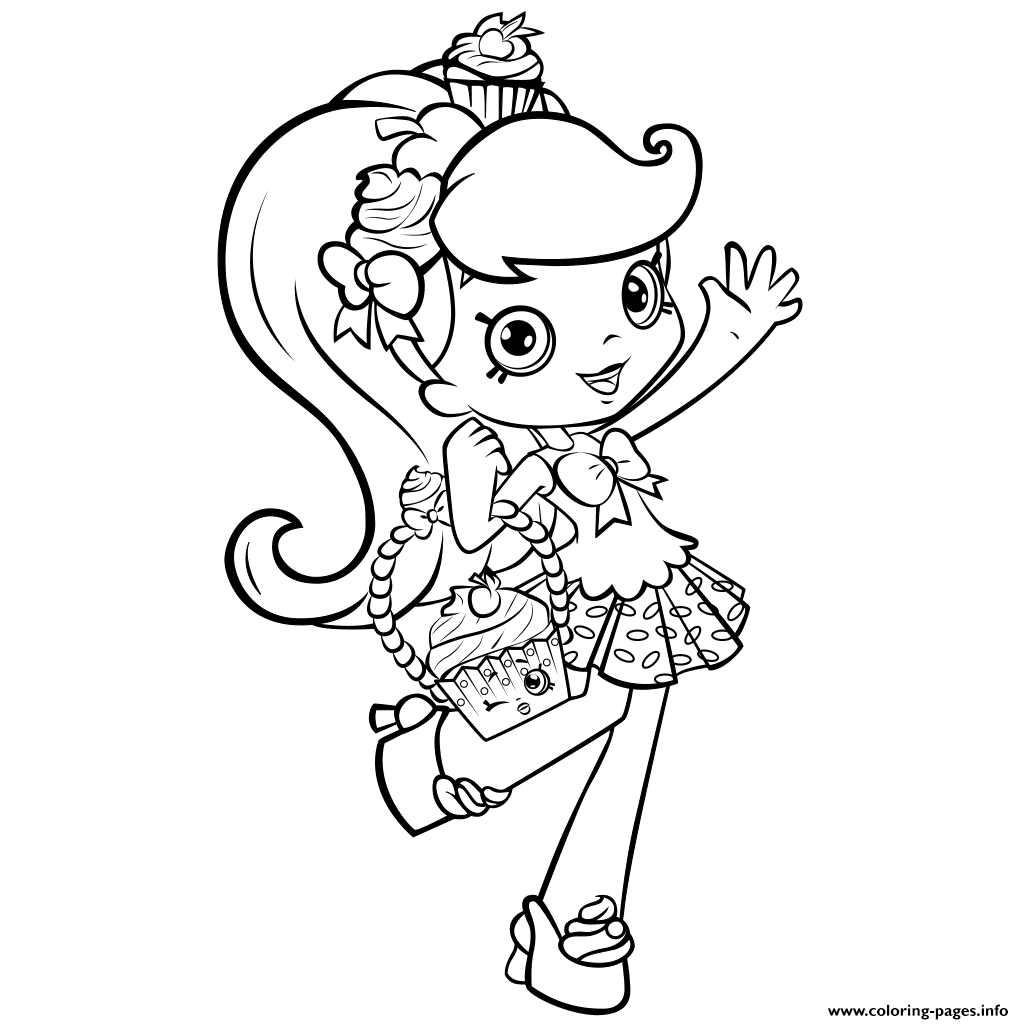 1024x1024 Print Shopkins Girl Shoppie Say Hi Coloring Pages Sew You Can