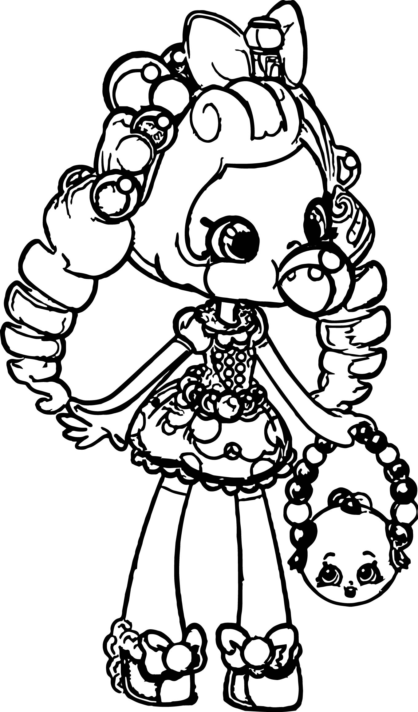 1360x2315 Coloring Pages For Girl Shopkins Printable