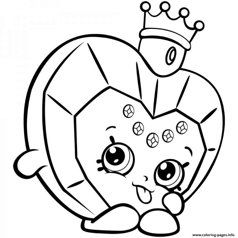 768x768 Shopkins Coloring Pages Free Printable With Coloring Pages