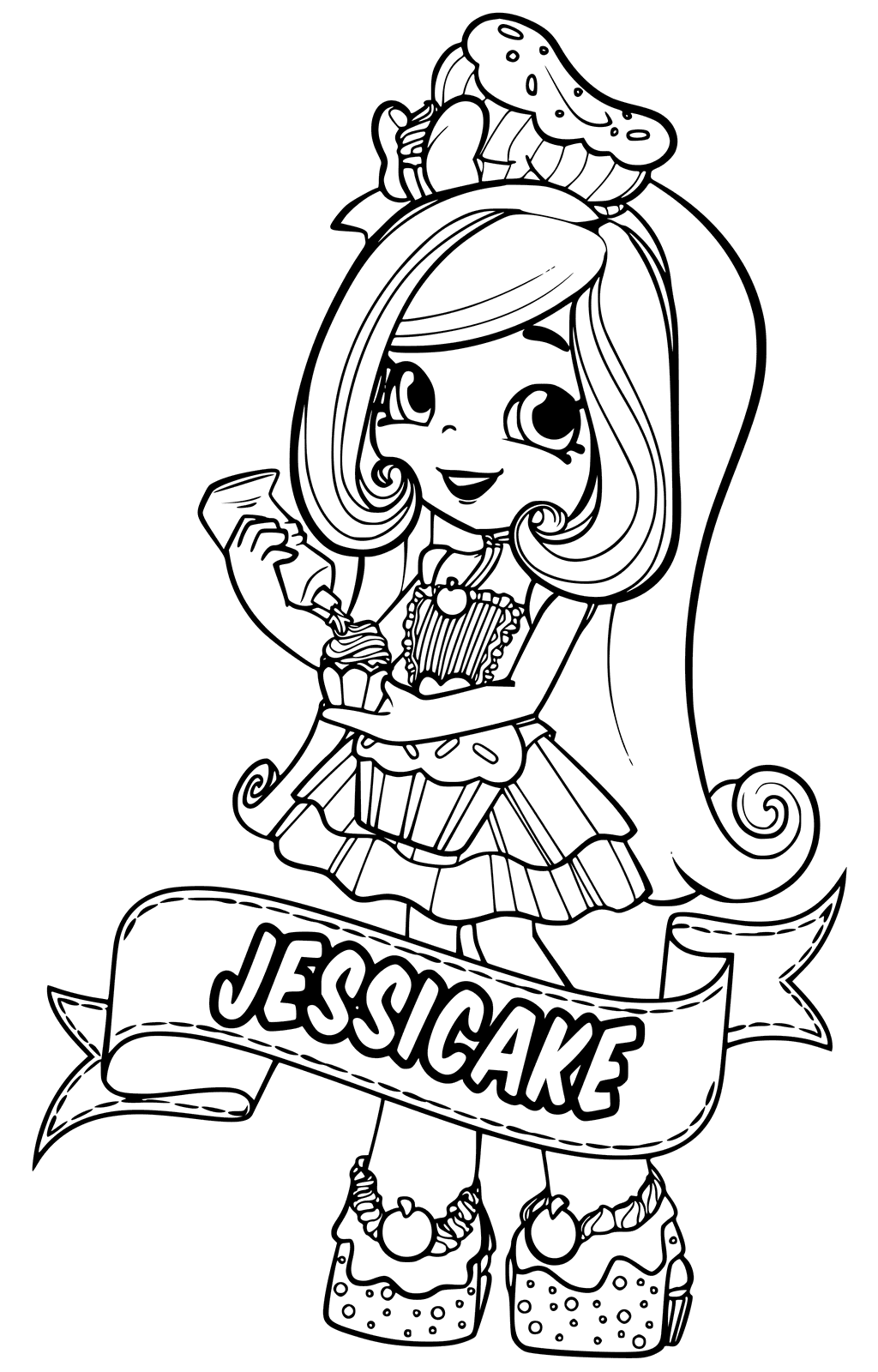 1024x1600 Shopkins Doll Jessicake Coloring Page