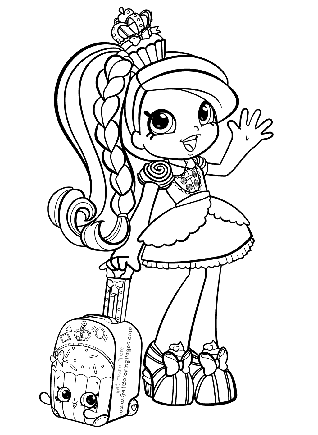1024x1400 Shopkins Girl In World Vacation Coloring Pages