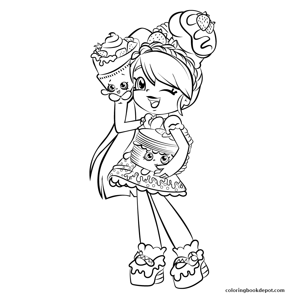 1024x1024 Cute Girl Shopkins Shoppies Coloring Pages