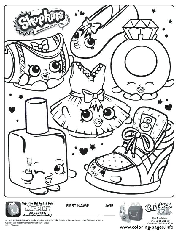 Shopkins Coloring Pages Free Printable At Getdrawings Com