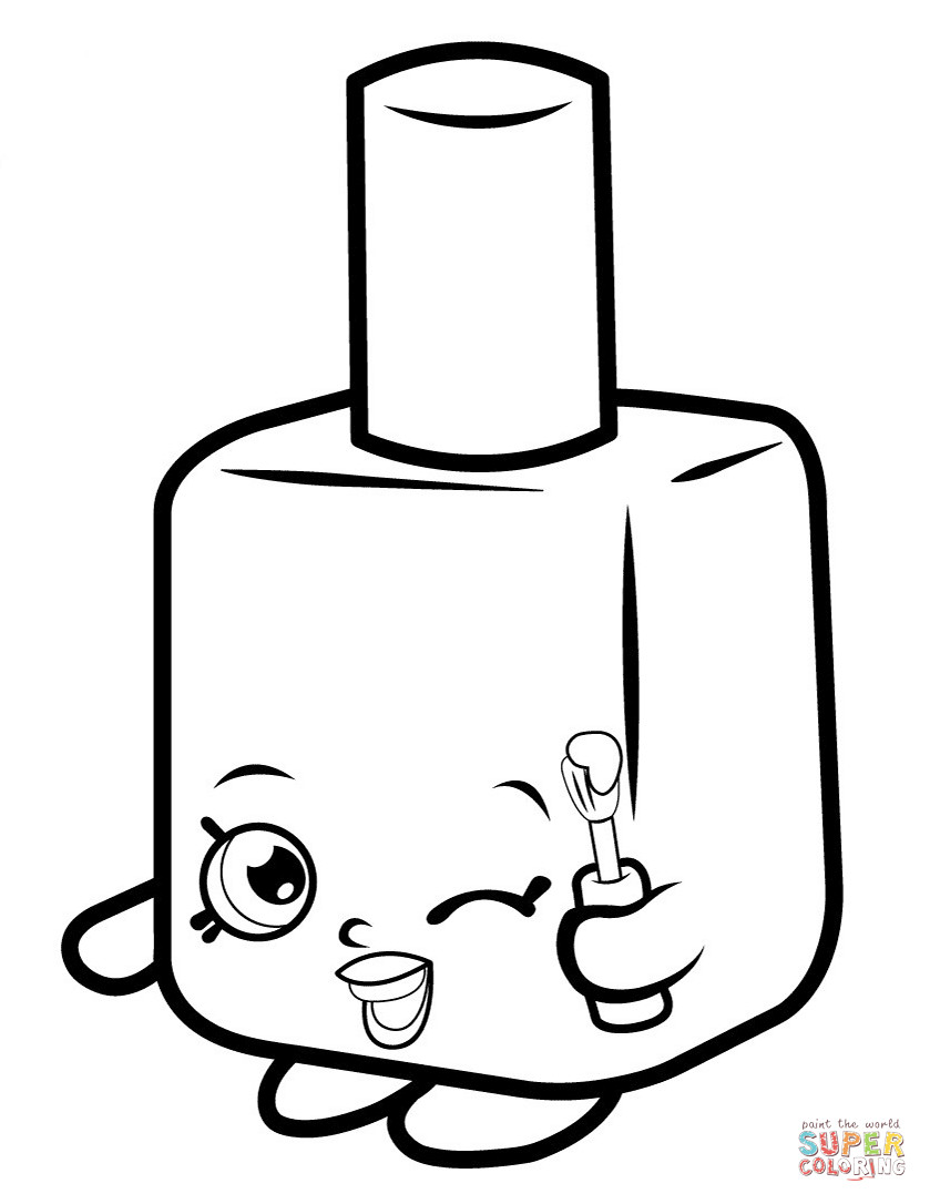 839x1086 Lippy Lips Shopkin Coloring Page Shopkins Pages Online