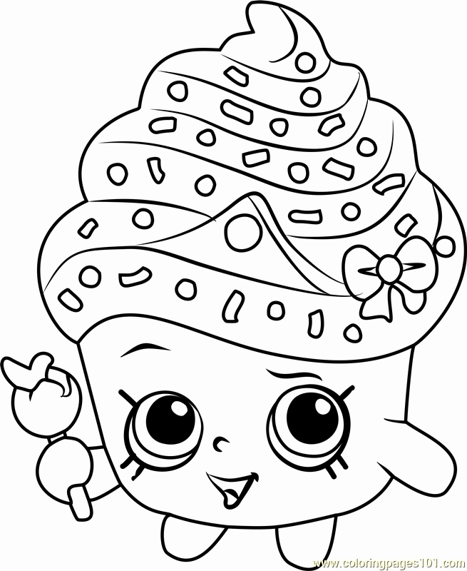 655x800 Shopkins Printable Coloring Pages Photograph Cupcake Queen