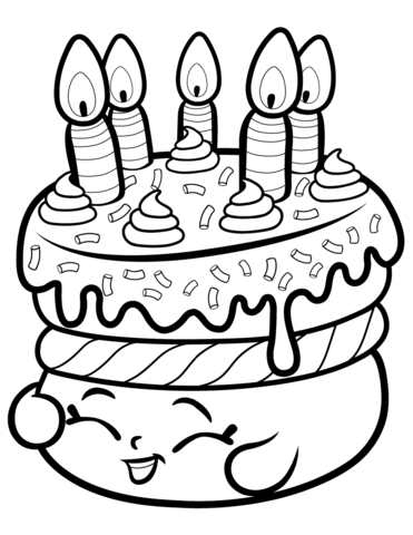 371x480 Shopkins Coloring Pages For Free Cake Wishes Shopkin Coloring Page