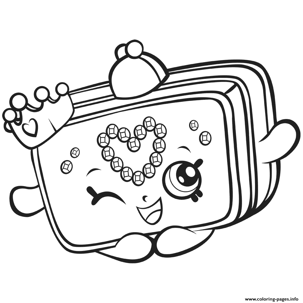 1024x1024 Season Shopkins Princess Purse Coloring Pages Printable