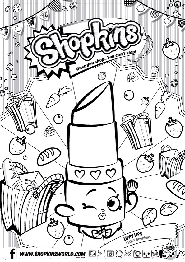 595x842 Shopkins Coloring Pages