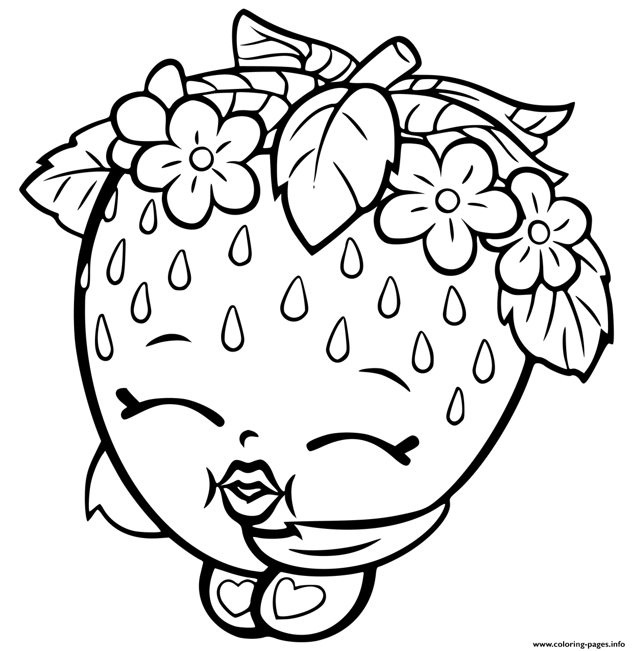 1240x1274 Shopkins Strawberry Coloring Pages Printable