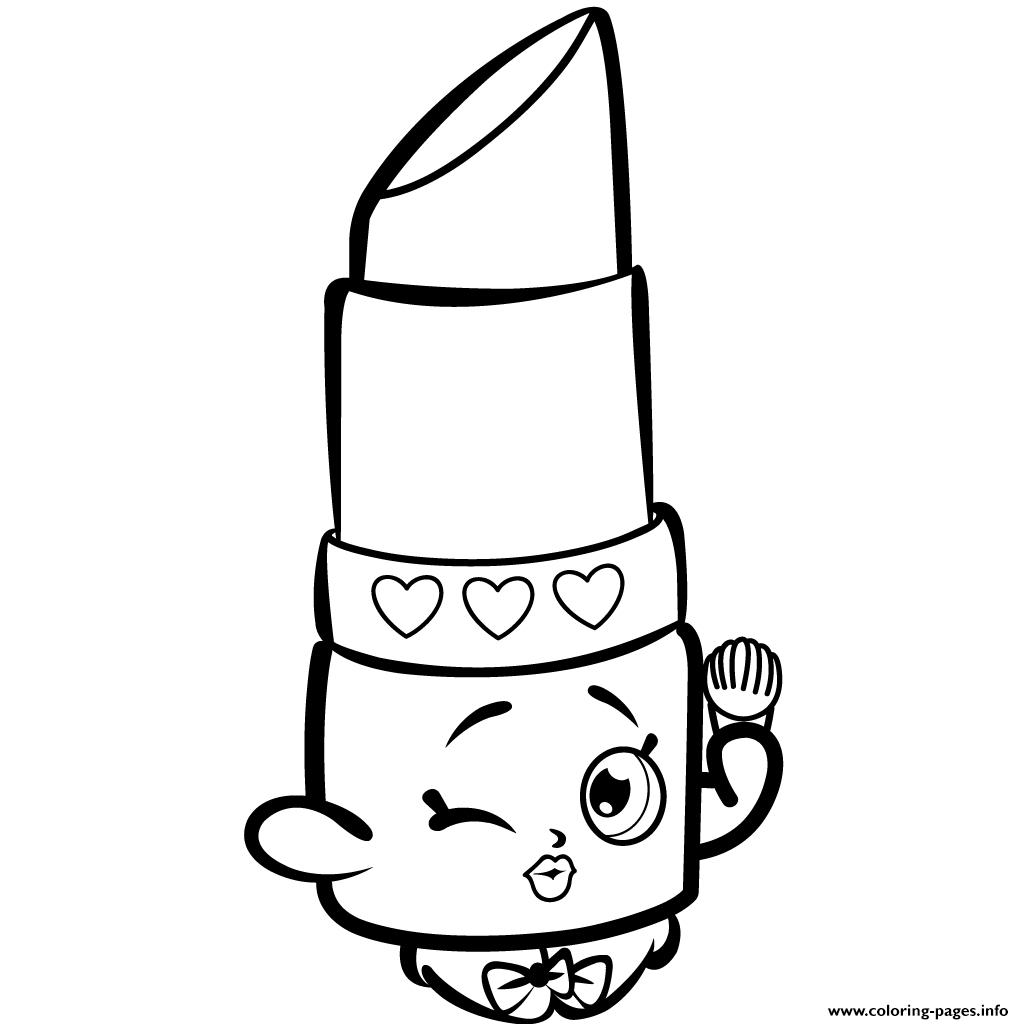 1024x1024 Lippy Lips Shopkins Coloring Page