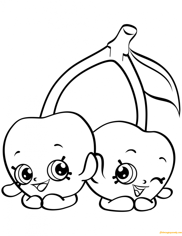 768x994 Impressive Decoration Shopkin Coloring Pages Cheeky Cherries