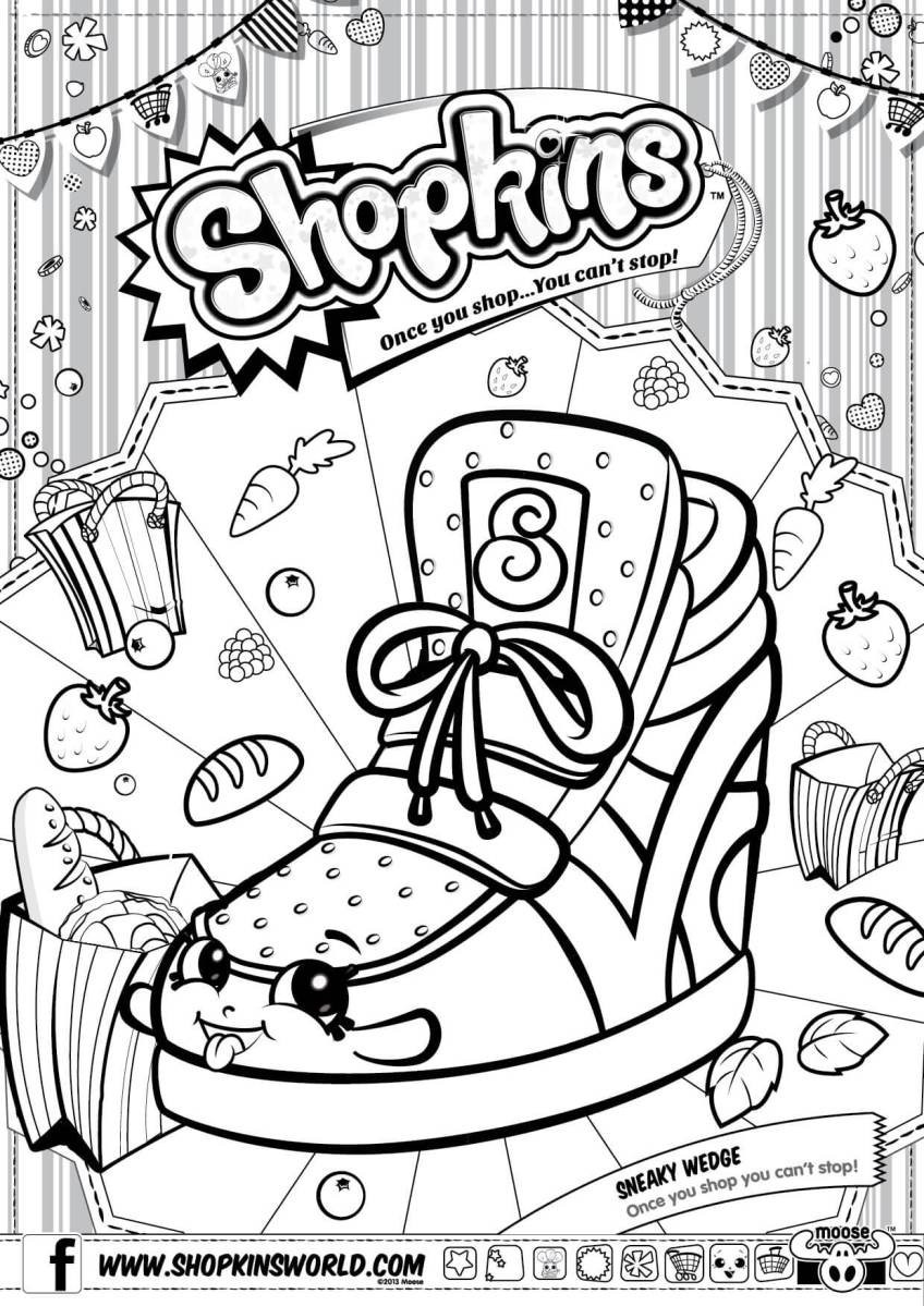 848x1199 Printable Shopkins Coloring Pages Season New Made
