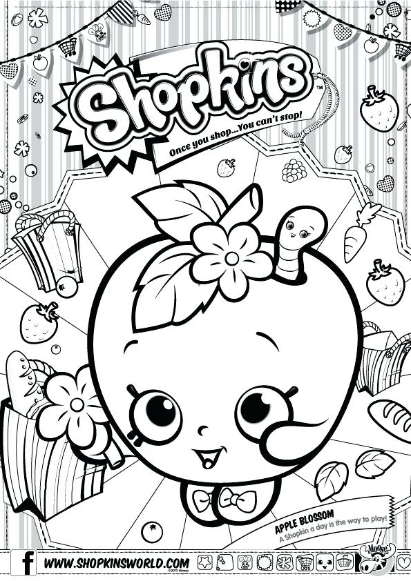 595x842 Shopkins Printable Coloring Pages Birthday Party Ideas Colouring