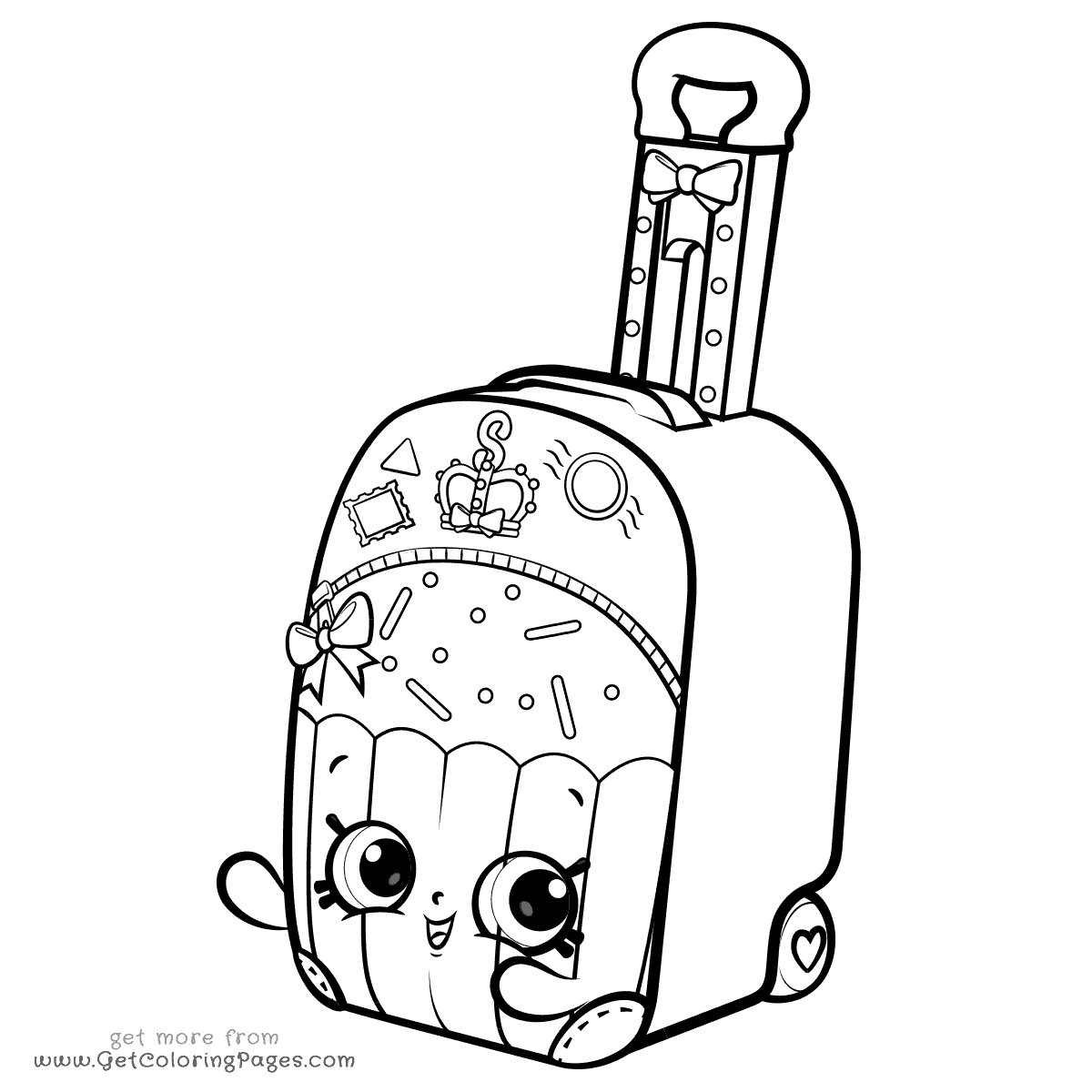 Shopkins Coloring Pages Shoppies