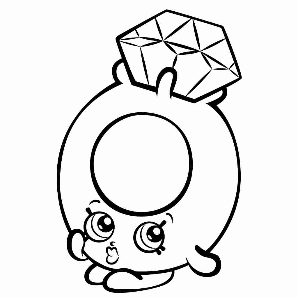 1024x1024 Shopkins Coloring Pages Free Printable Fancy Shopkins To Print