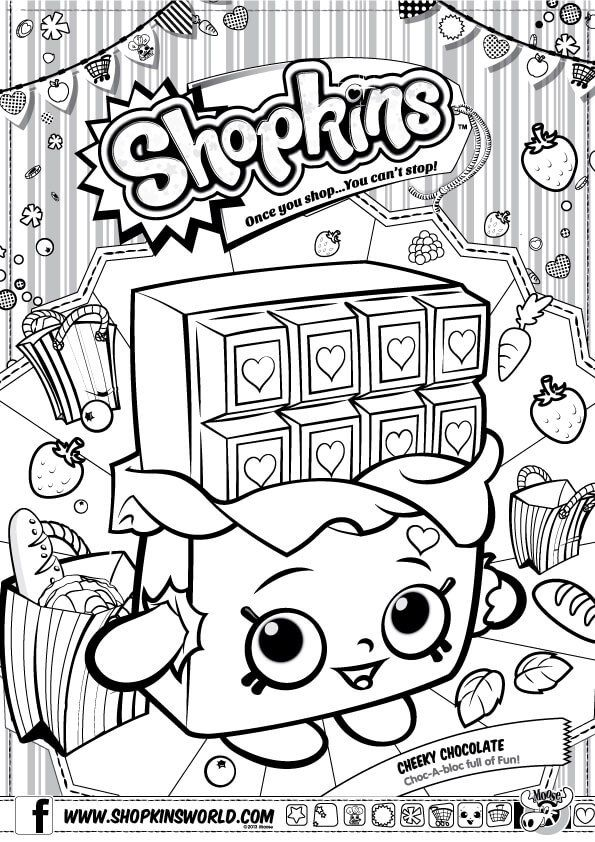 595x842 Shopkins Coloring Pages Season Cherry Chocolate Party