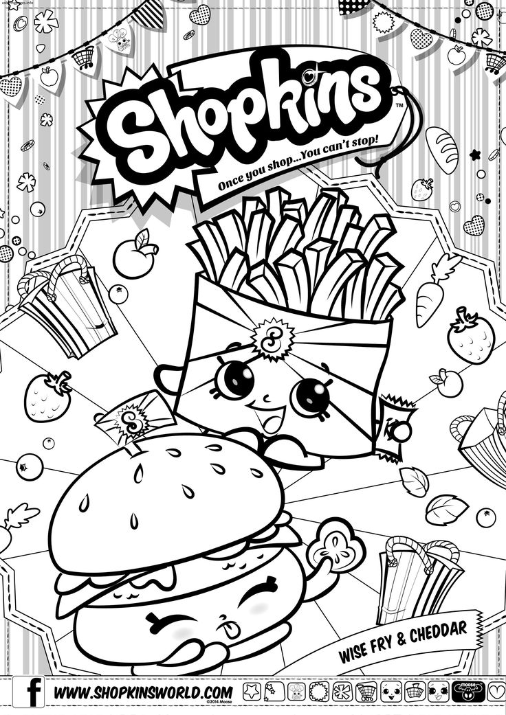 Shopkins Coloring Pages Wishes