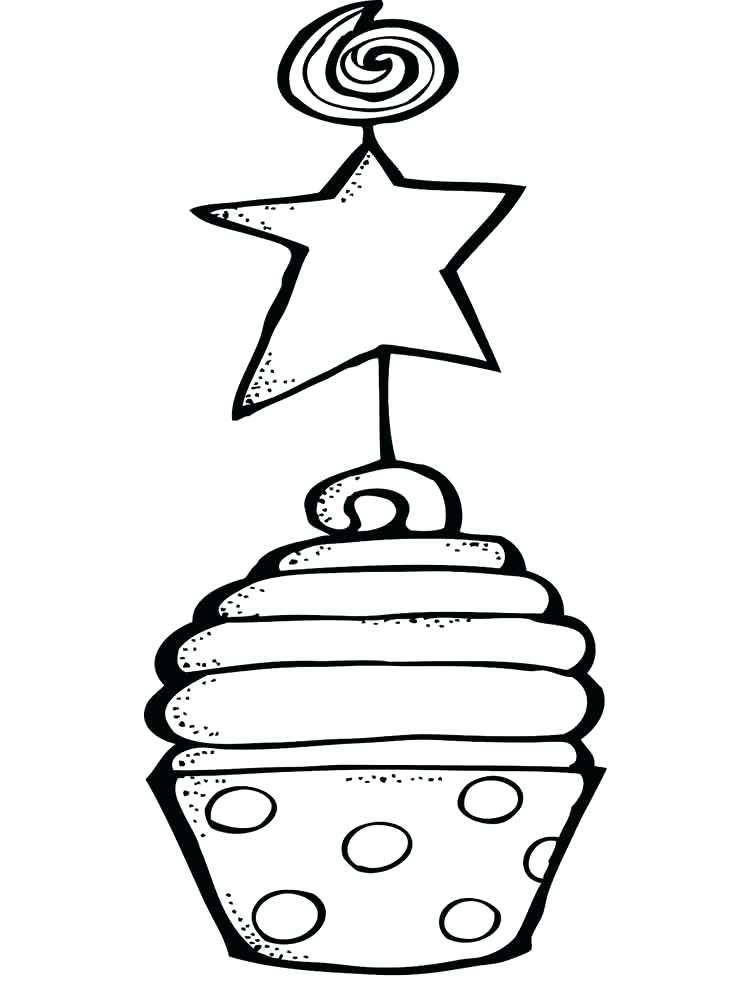750x1000 Cupcake Coloring Pages Birthday Cupcake Coloring Pages Shopkins