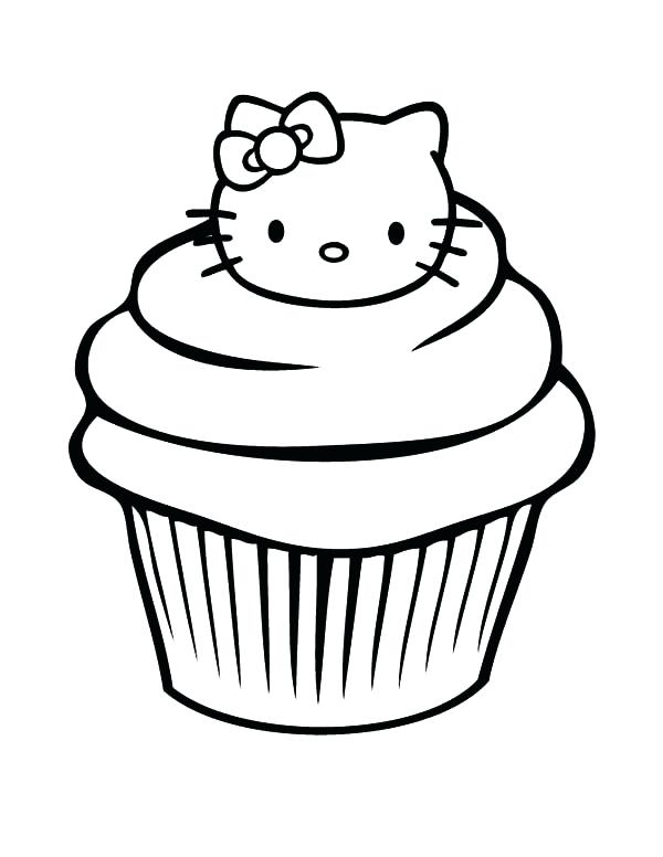 600x776 Cupcake Coloring Pages Hello Kitty Cupcakes Coloring Pages