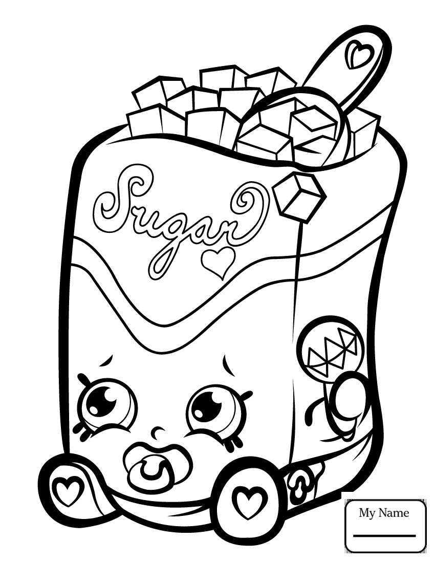850x1100 Cupcake Queen Shopkin Toys And Dolls Coloring Pages For Kids