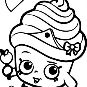 300x300 King Cake Coloring Pages Copy Shopkins Cupcake Queen Coloring Page