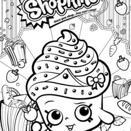 268x268 Print Shopkins Cupcake Queen Coloring Pages Free Printable