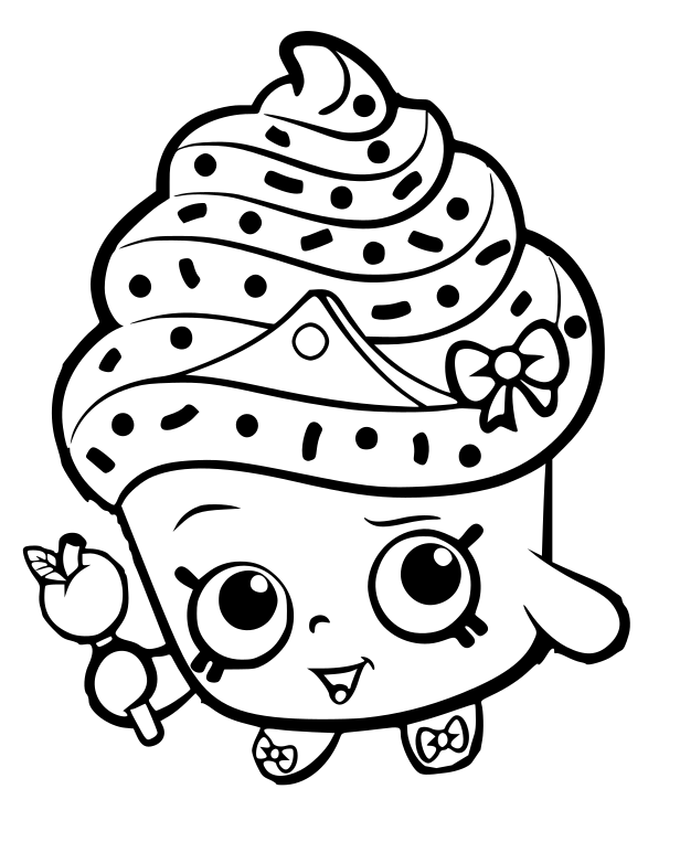 31 Shopkins Cupcake Coloring Pages - Free Printable Coloring Pages