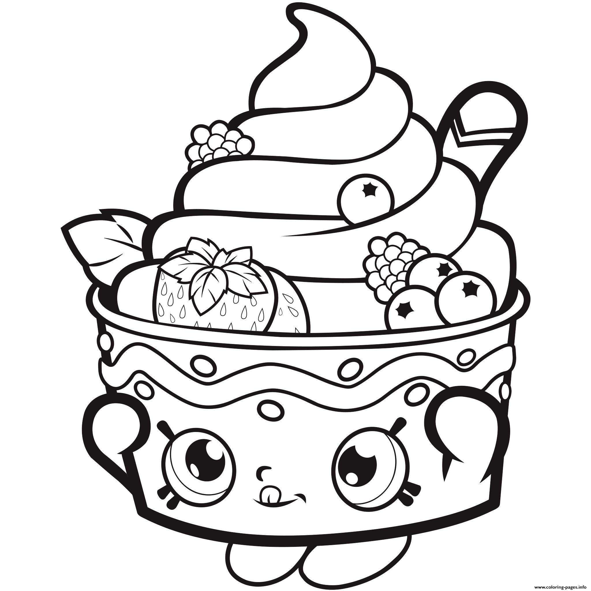 Shopkins Cupcake Queen Coloring Pages At GetDrawings