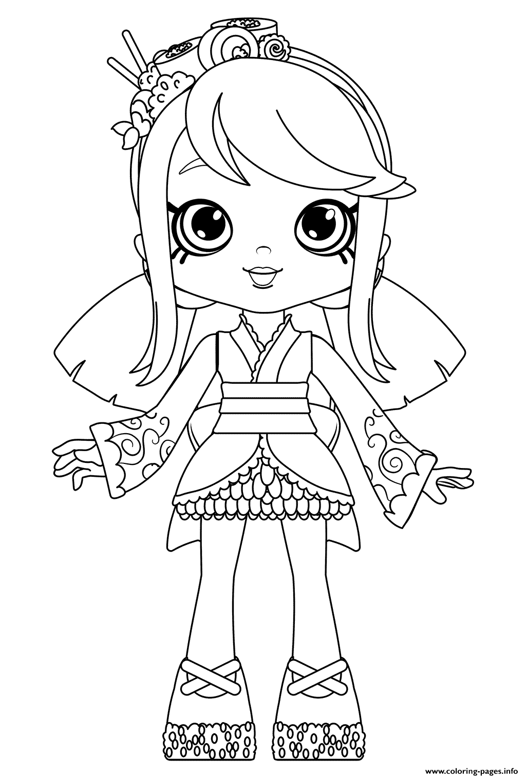 1024x1516 Sara Sushi Doll Coloring For Girls Coloring Pages Printable