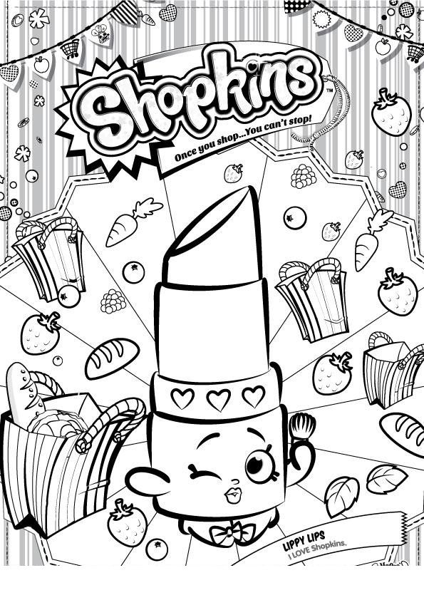 Shopkins Free Printables Coloring Pages