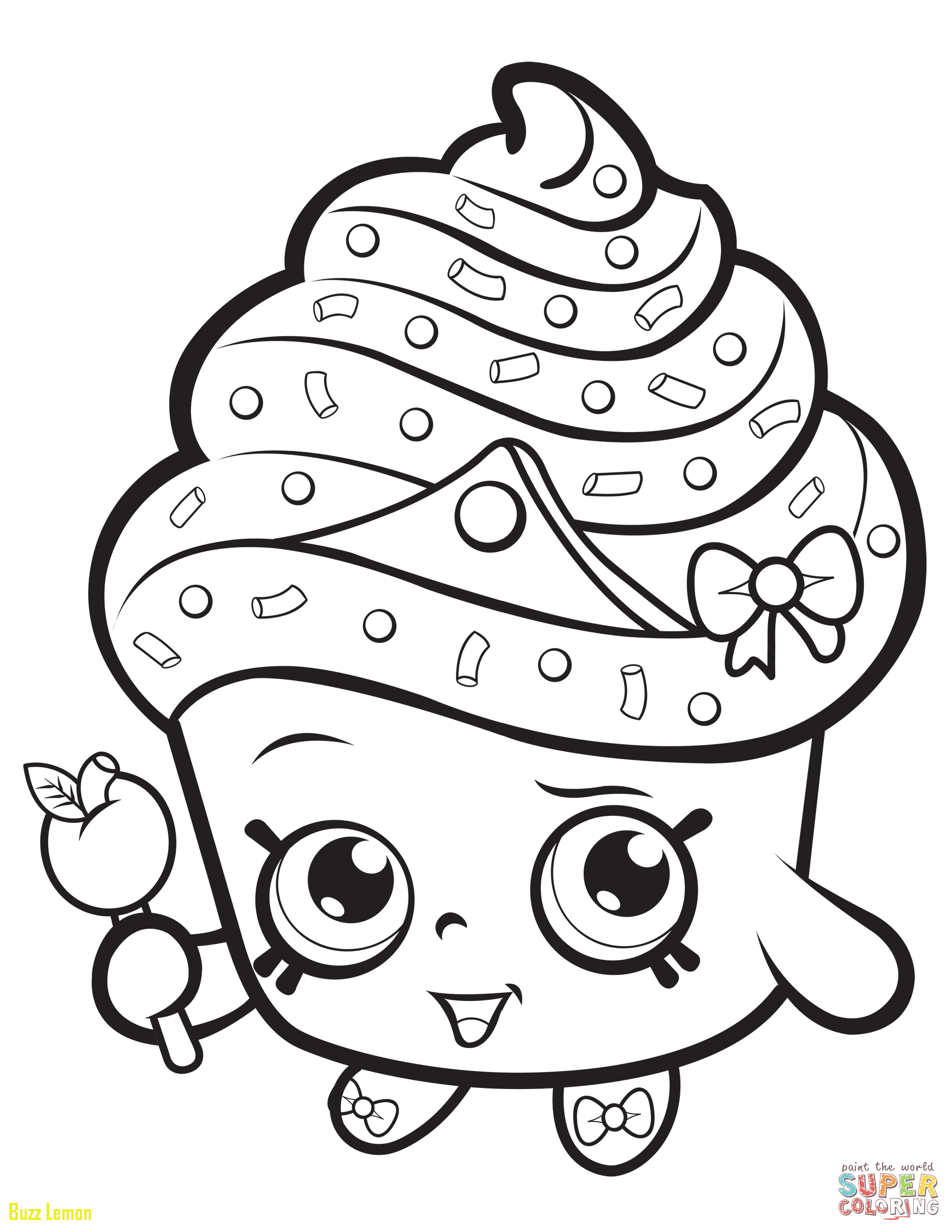 1739x2250 Coloring Page Shopkins Unique Cupcake Queen Shopkin Coloring Page