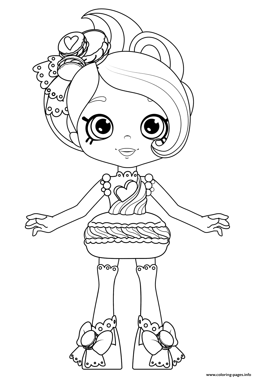 1024x1516 Colorful Shopkins Happy Places Coloring Pages Macy Macaron