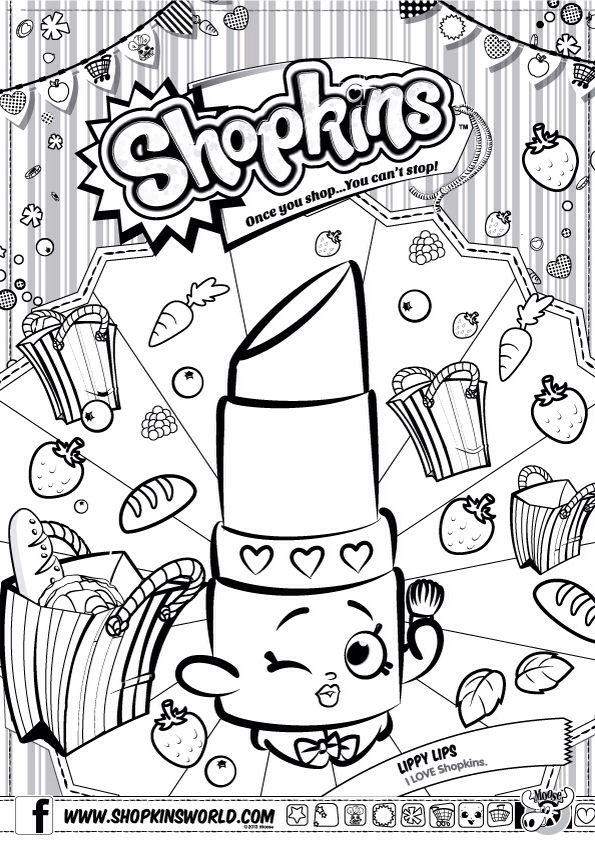 595x842 Shopkins Colour Color Page Lippy Lips Shopkinsworld Shopkins