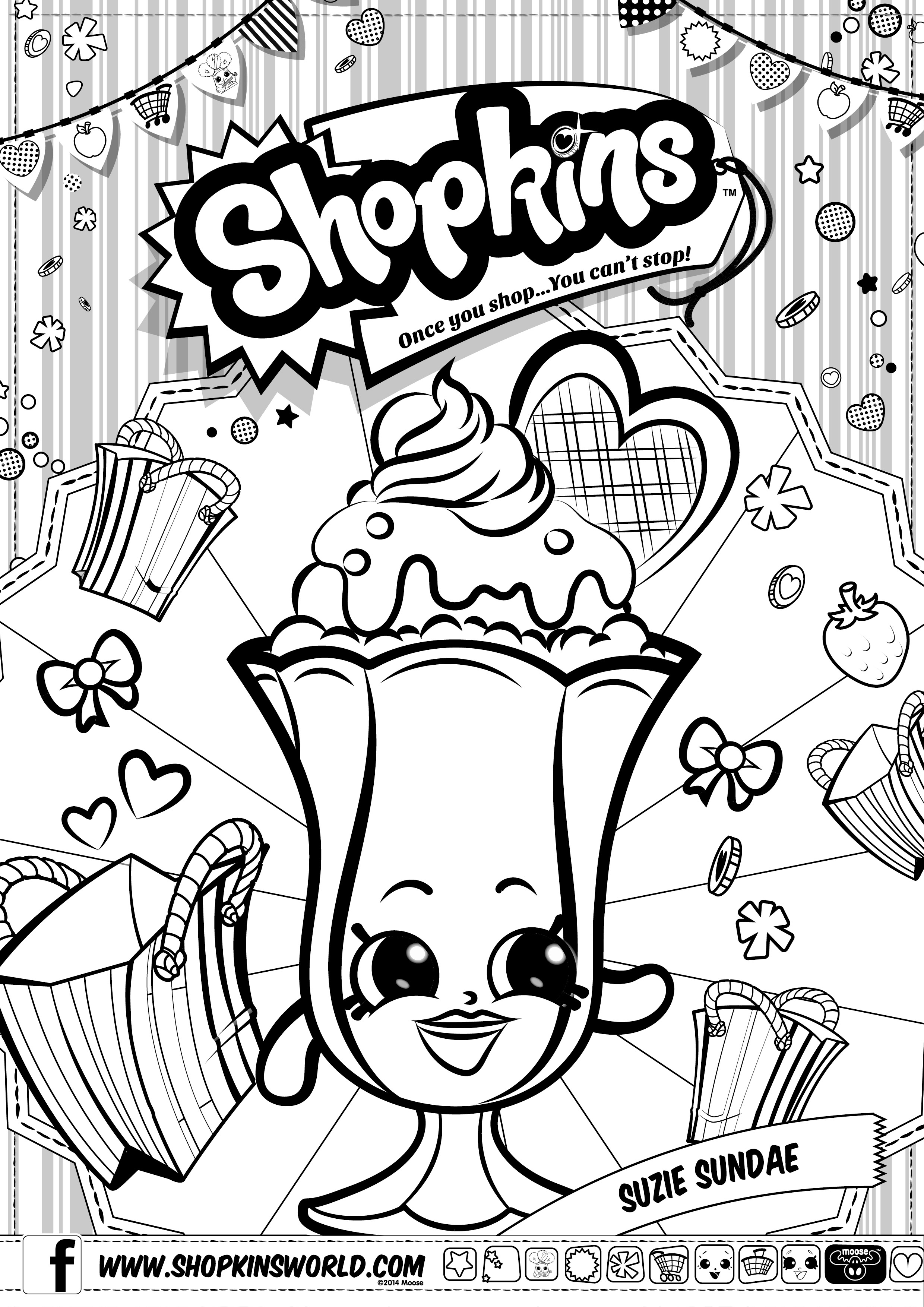 2480x3508 Shopkins Lippy Lips Coloring Pages