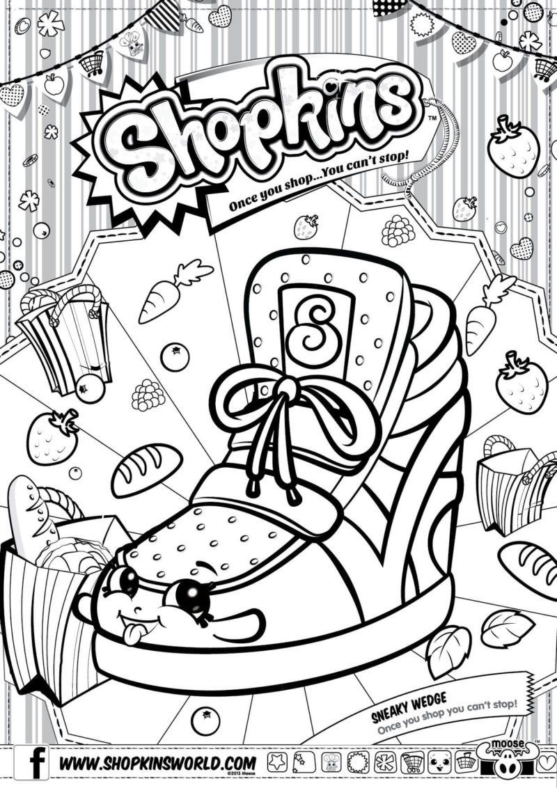 800x1132 Shopkins Coloring Pages Season Sneaky Wedge Coloring Pages