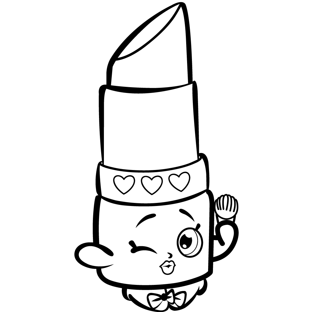 1024x1024 Shopkins Lipstick Coloring Images Free