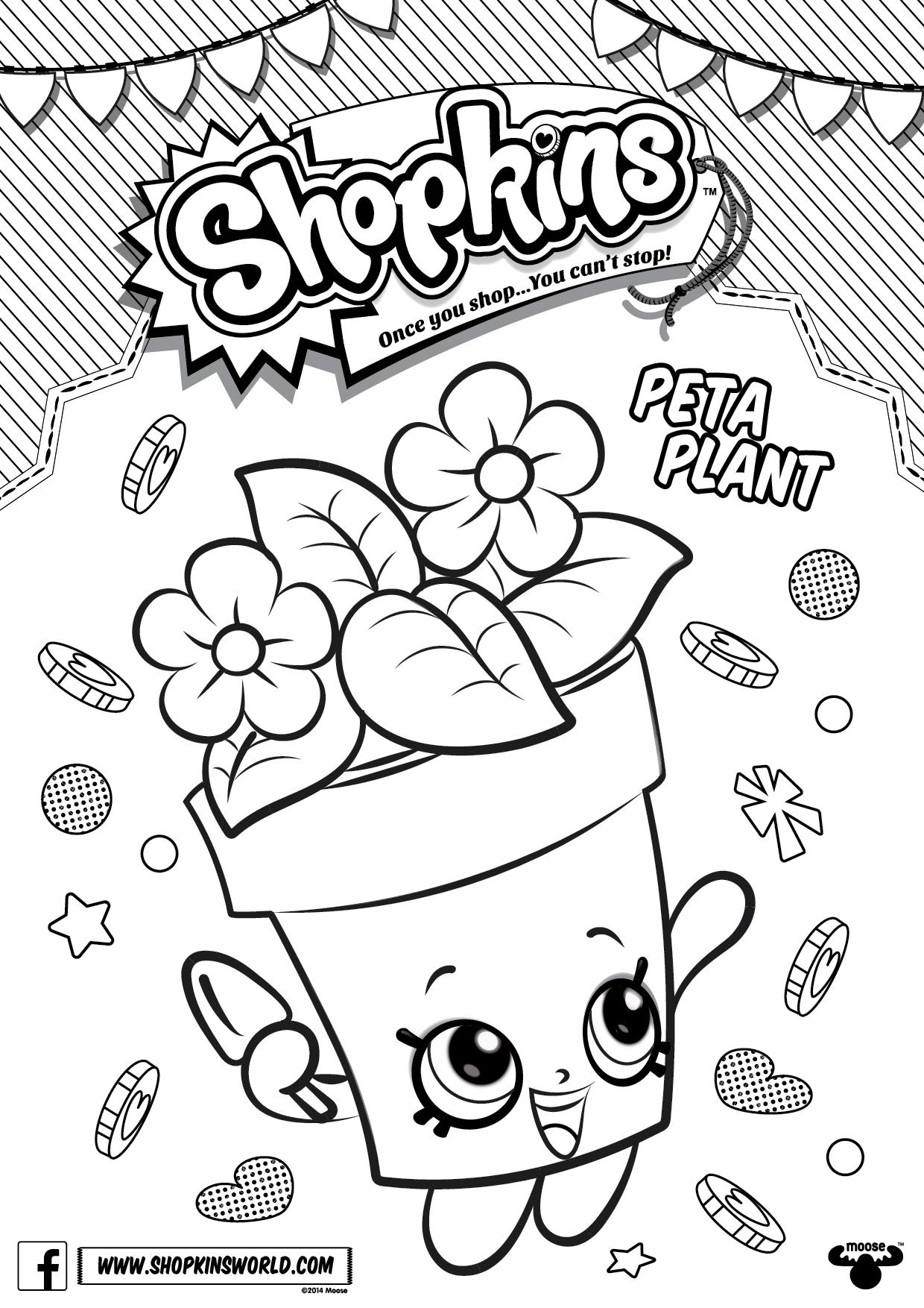 1240x1754 Shopkins Peta Plant Coloring Pages