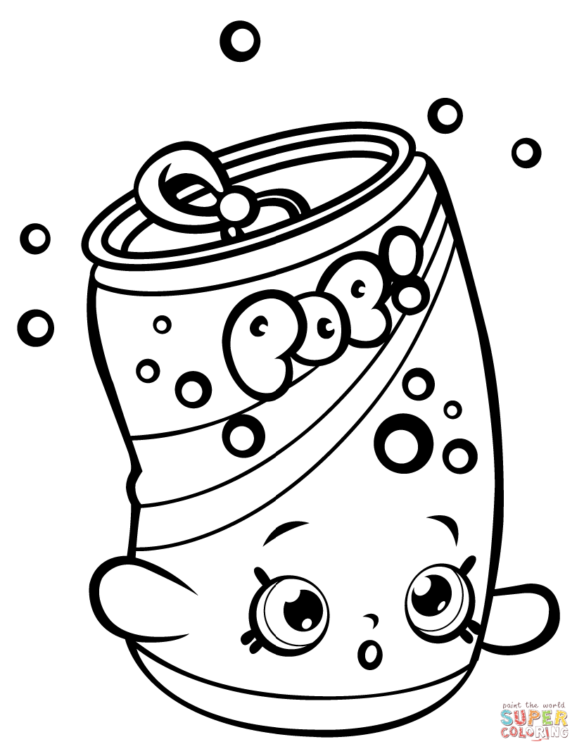 830x1074 Soda Pops Shopkin Coloring Page With Pictures To Print
