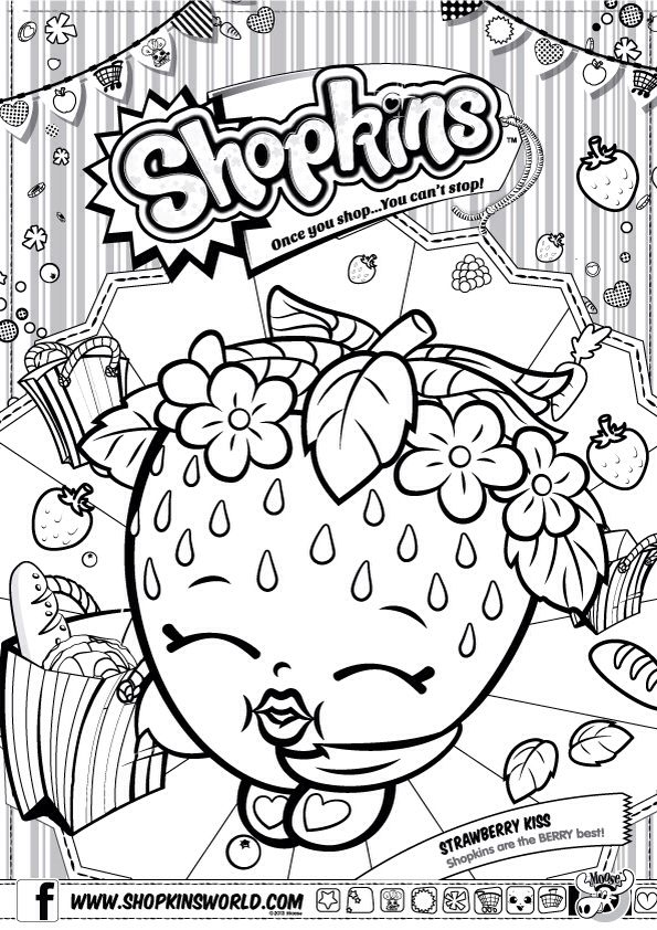 Shopkins Printable Coloring Pages At Getdrawings Com Free