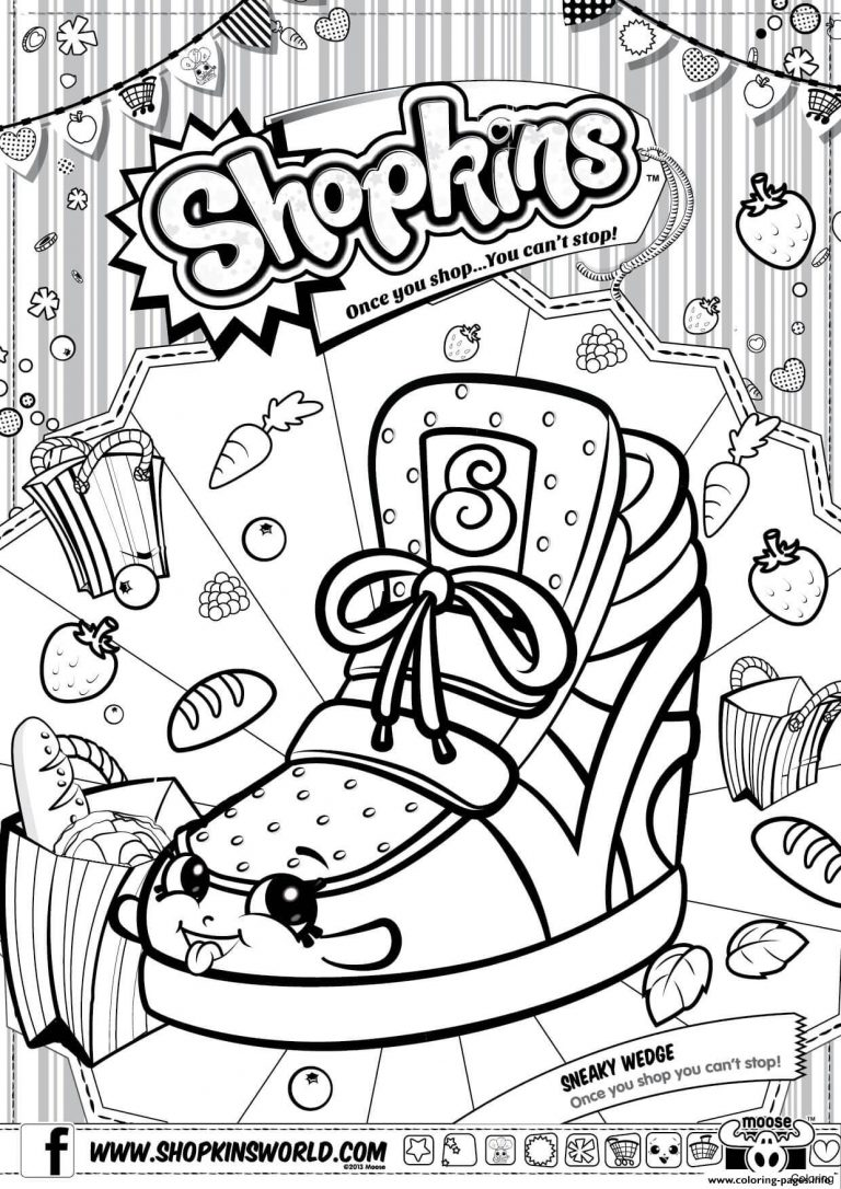768x1086 Hurry Lippy Lips Coloring Page Shopkins Season Pages