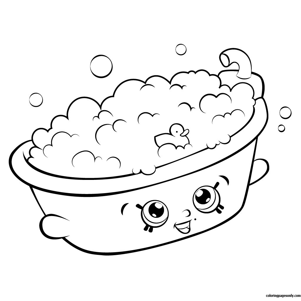 1024x1024 Shopkins Coloring Pages Snow Crush Copy Bertha Bath Shopkin Season