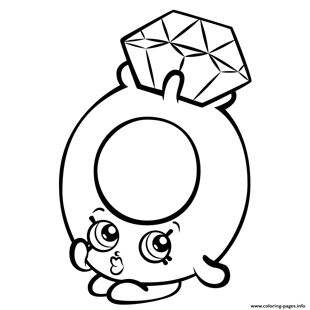 1024x1024 Print Roxy Ring With Diamond Shopkins Season Coloring Pages
