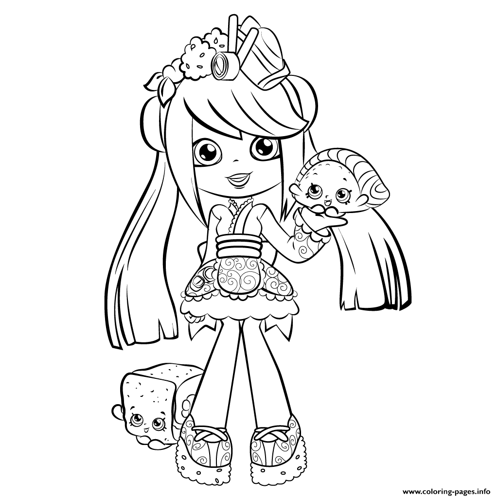 1024x1024 Shopkins Shoppies Coloring Pages Free