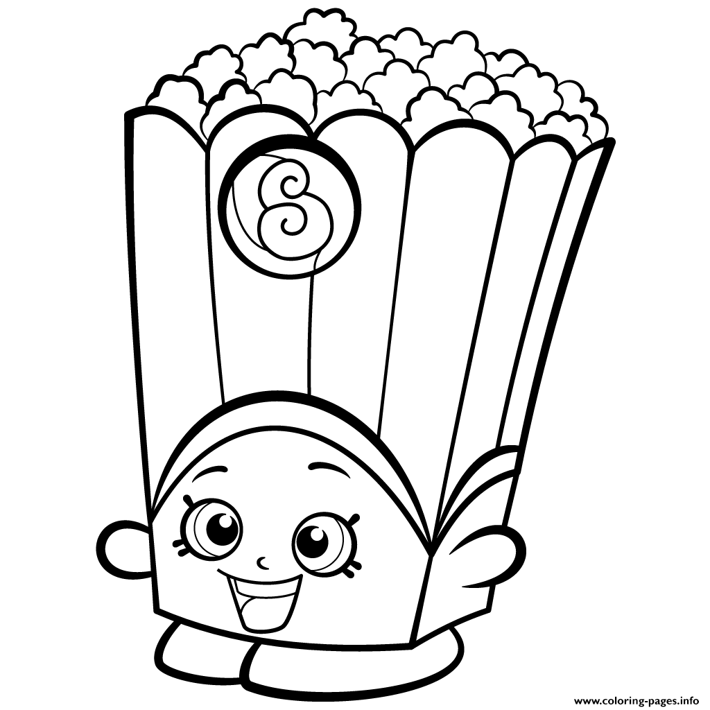 1024x1024 Startling Poppy Corn Coloring Page Revisited Popcorn Sheet Box