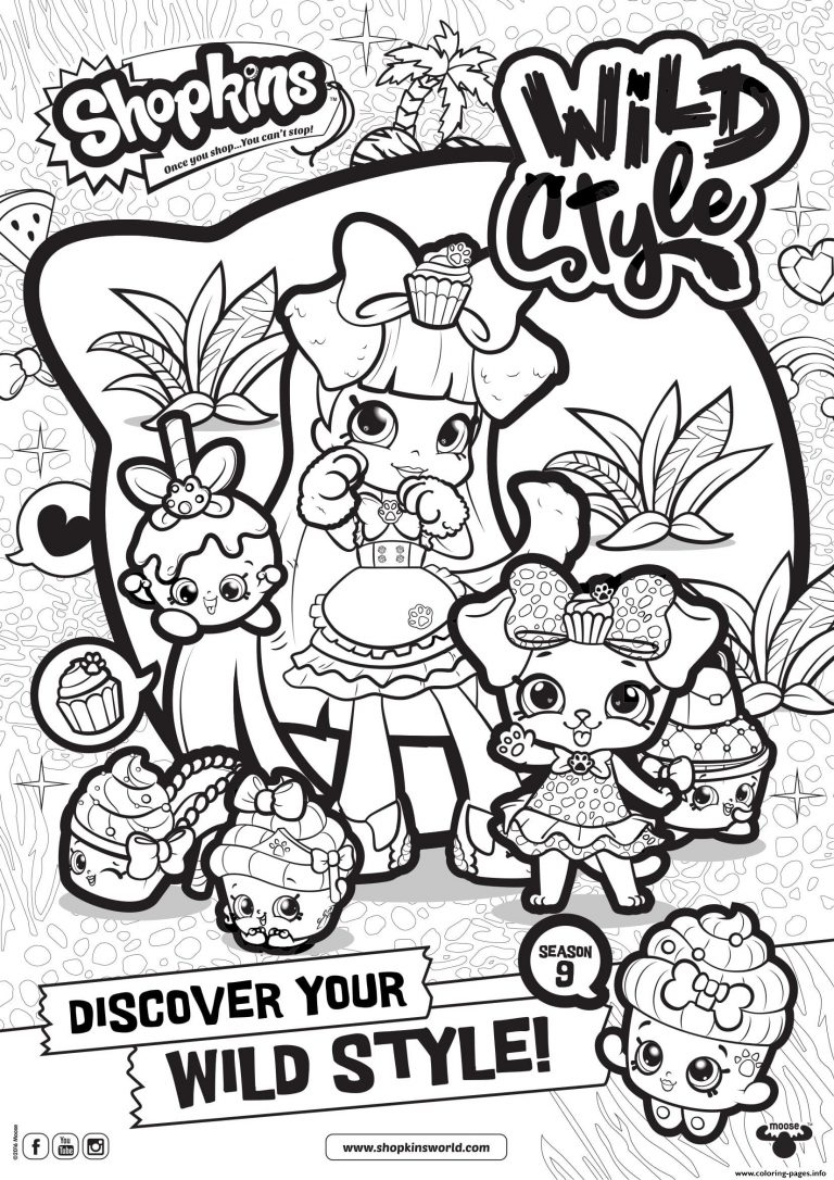 768x1086 Coloring Pages For And Up Best Of Fresh Shopkins Season Wild