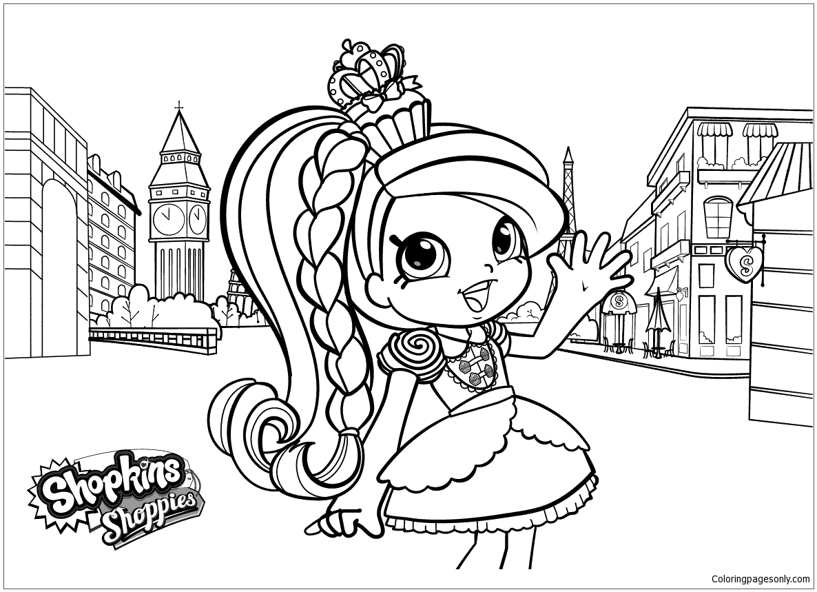 Shopkins Shoppies Coloring Pages At Getdrawingscom Free For