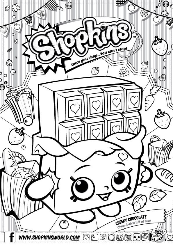Shopkins Website Coloring Pages