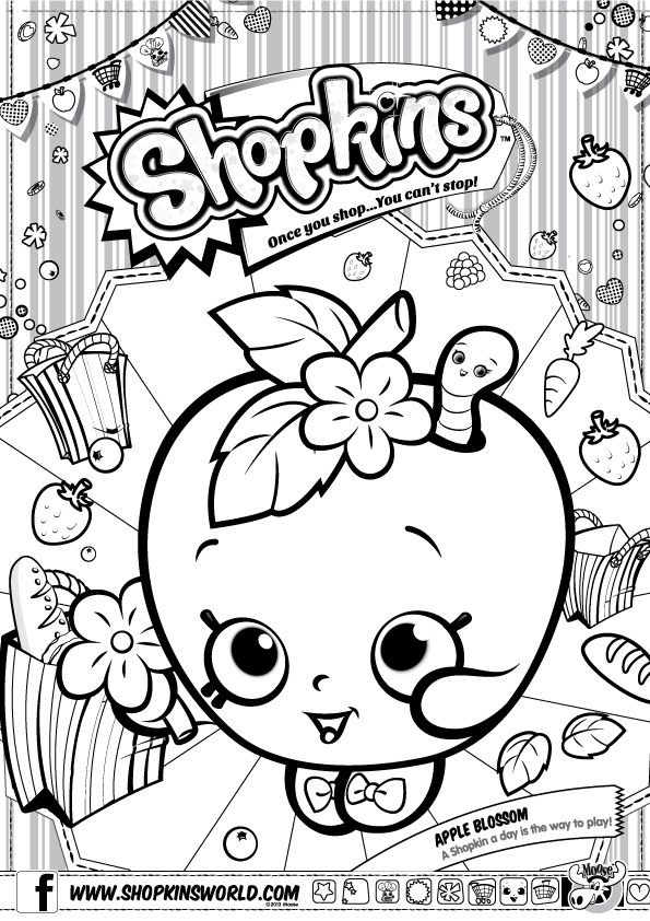 Shopkins Wishes Coloring Pages